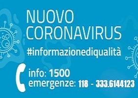 EMERGENZA CORONAVIRUS: DECRETI MINISTERIALI e REGIONALI - DISPOSIZIONI SINDACO e AUTORITA' LOCALI