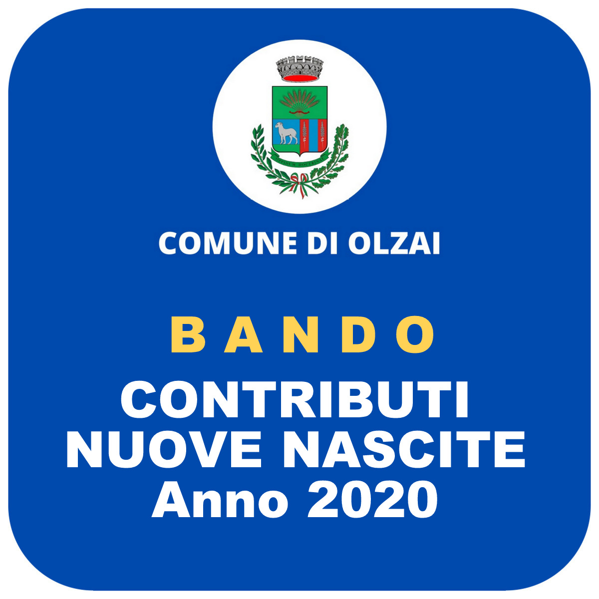 CONTRIBUTI NASCITE 2020 - GRADUATORIA UNICA
