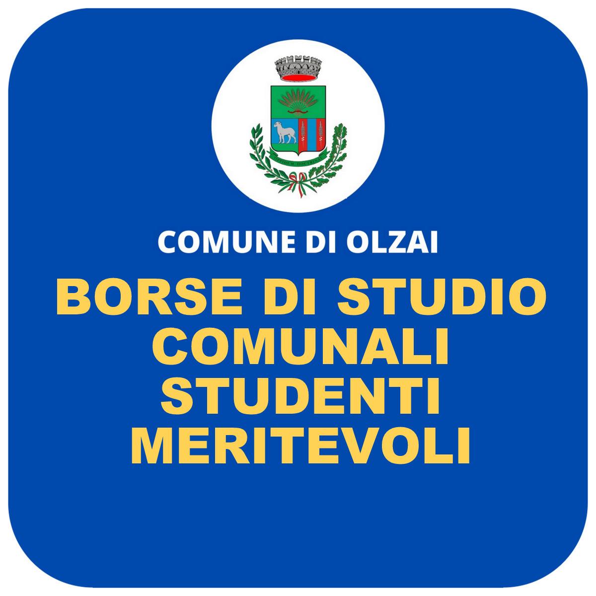 ASSEGNAZIONE BORSE DI STUDIO COMUNALI - STUDENTI MERITEVOLI