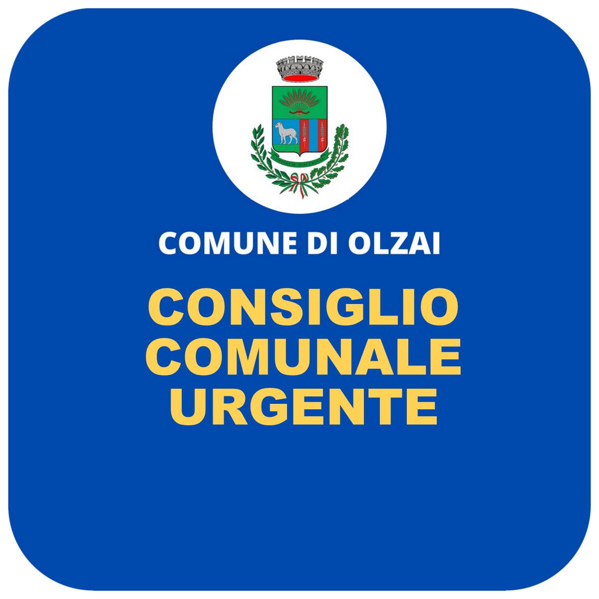 CONVOCAZIONE CONSIGLIO COMUNALE URGENTE - venerdi 12 febbraio 2021