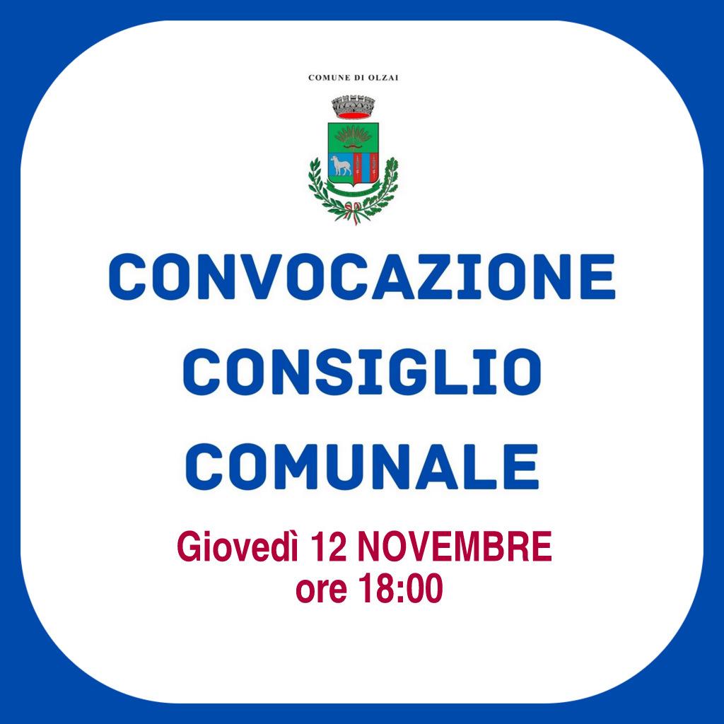 CONVOCAZIONE CONSIGLIO COMUNALE - INSEDIAMENTO