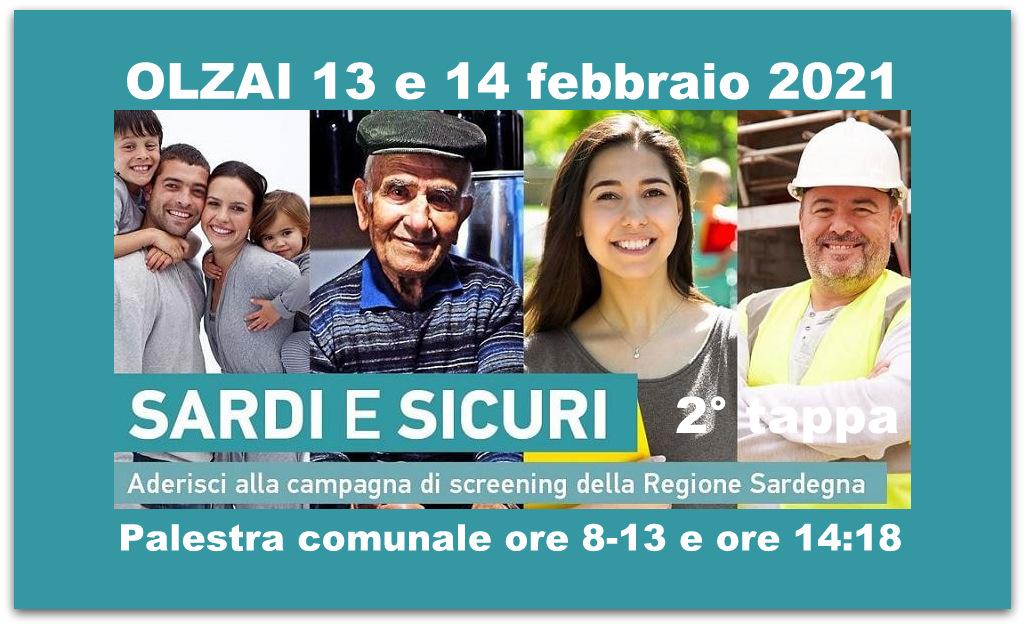 AVVISO - Campagna screening Sardi e Sicuri, 2° tappa